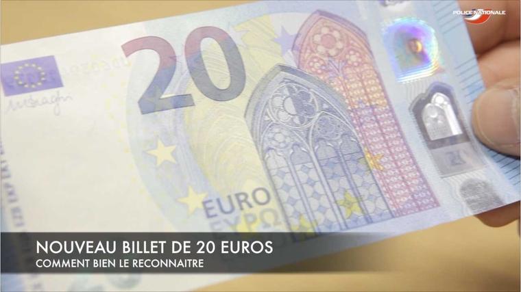 Nouveau billet de 20 euros savoir le reconna tre l 39 actu police actualit s police - Comment reconnaitre des couverts en argent ...